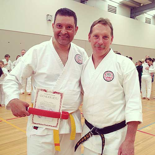 "After a handful of months, I eventually got back into the swing of things and decided to go to a second class during the week at the Peninsula Monash Uni. Unbeknown to me, it was actually a senior class and as a yellow belt (8th Kyu) I walked into this new class only to face a sea of black belts along with 4th Dan instructor Sensei Paul. It was a big change from my then regular Dojo where the highest belt was green! I immediately felt displaced, however I was made to feel very welcome by Sensei Paul. IN his opening at the beginning of class, he said [Paraphrase] ""Everyone is very welcome here, but we all train as black belts"" It's something I've never forgotten."